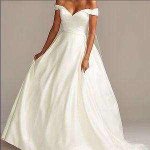David's Bridal Modern Ballgown Wedding Dress
